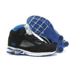 Men S Nike Air Max Jordan 5 Shox Shoes Black White Blue New Style From Reliable