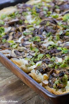 Vegan Walnut Mushroom Tart - an appetizing, flaky and crispy tart perfect for parties or serving at a holiday get together! Makes for a fun 'finger food' appetizer! #Vegan #Appetizer