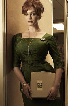 Joan looking gorgeous in green!