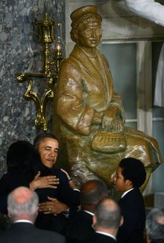 President Barack Obama at the unveiling of civil rights activist Rosa Parks statue in Statuary Hall in the U.S. Capitol in Washington, February 27 | The Obama Diary