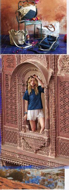 Rajasthan - Jodhpur and Jaipur  Anthropologie Catalog: March 2014 Lookbook