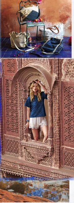 Rajasthan - Jodhpur and Jaipur  Anthropologie Catalog: March 2014 Lookbook