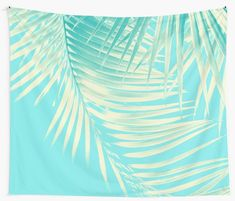 """Palm Leaves Summer Vibes #4 #tropical #decor #art"" Wall Tapestries by anitabellajantz 