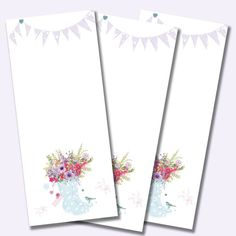 Organise your thoughts and 'to do' lists with this pretty jotter pad - and there's matching notecards too! Blue Wellies & Flowers Jotter Pad (code: RB98, 50 sheets per pad) £2.75