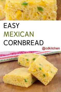 mexican cornbread casserole Easy Mexican Cornbread - Start with a package of cornbread mix and dress it up with creamed corn, shredded cheese, and minced jalapeno. Jalapeno Cheese Cornbread, Jalapeno Cream Corn, Creamed Corn Cornbread, Sweet Cornbread, Cornbread Mix, Jalapeno Chili, Easy Mexican Cornbread, Mexican Cornbread Casserole, Jiffy Cornbread Recipes