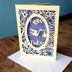 New Baby Laser Cut Card by Pogofandango Baby Silhouette, Silhouette Cameo, Cut Out Art, Paper Cut Design, Paper Engineering, New Baby Cards, Frame Crafts, Pop Up Cards, Baby Crafts