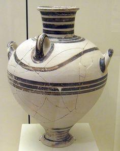 Three handled Mycenaean Palace style amphora from Mycenae.