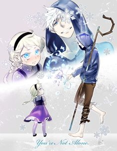 Frozen's Elsa and Rise of the Guardians' Jack Frost / 「You're not alone. Disney Kunst, Arte Disney, Disney Fan Art, Disney Love, Disney Frozen, Jack Frost Und Elsa, Jack Y Elsa, Jack Frost Anime, Jelsa