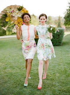 Vestidos de Dama de Honor con Estampado Floral 12