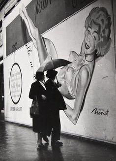 Rainy Street Scene, Paris 1930s by Claude Bower