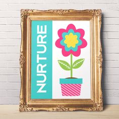 Nurture Motivational Print - Inspirational Quote - Printable Wall Art - Office Decor - Wall Art - Quote Print - Home decor - Flower Print by DisfrutesPrints on Etsy