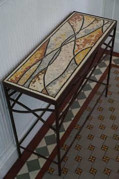 Mozaica, Creations and Achievements of Mosaics - Remart - . - Epoxy Flooring - Welcome Haar Design Mosaic Diy, Mosaic Crafts, Mosaic Projects, Mosaic Tiles, Mosaic Outdoor Table, Outdoor Table Tops, Mosaic Furniture, Diy Furniture Cheap, Stained Glass Designs