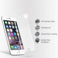 Real Tempered Hd Glass Screen Protector Iphone 6 Plus 5.5 / 4.7 / 5 / 5S / 5C  #Rainbow