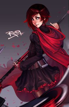 Red Ruby Rose by DreamerWhit on DeviantArt