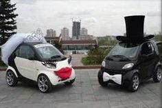 funny wedding cars