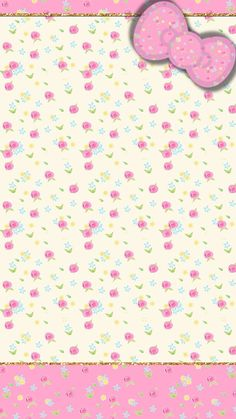 Ideas For Wallpaper Iphone Pink Pastel Hello Kitty Wallpaper Gatos, Bow Wallpaper, Flowery Wallpaper, Pink Wallpaper Iphone, Apple Wallpaper, Pink Iphone, Cellphone Wallpaper, Wallpaper Stickers, Hello Kitty Art