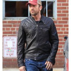 BuyLondon Has Fallen Gerard Butler 2016 Black Leather Jacket and free worldwide shipping just at fameleathers.com #GerardButlerjacket #GerardButlerLondonHasFallenjacket #LondonHasFallen2016jacket #LondonHasFallenGerardButlerjacket #LondonHasFallenLeatherJacket