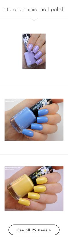 """""""rita ora rimmel nail polish"""" by laurajessica ❤ liked on Polyvore featuring beauty products, nail care, nail polish, nails, rimmel nail polish, rimmel, glossy nail polish, shiny nail polish, home and home improvement"""