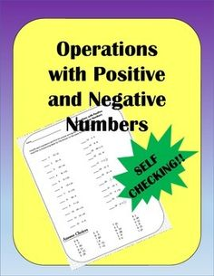 Calculating problems with positive and negative numbers always give my students trouble.  Here is a worksheet for some extra practice.  There are 24 problems - the first 12 are addition and subtraction, the second 12 are multiplication and division.  I find that students can always benefit from extra practice on this skill.