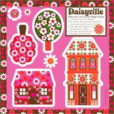 Handmade by alice apple: Daisyville cut & sew houses - so gorgeous!