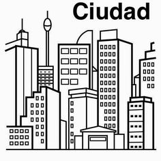 Dibujos para colorear. Maestra de Infantil y Primaria.: Pueblos y ciudades para colorear. Towns and cities coloring pages.