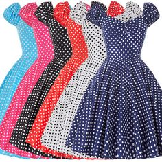 Style-VINTAGE-a-pois-Swing-50s-60s-pinup-Bal-the-FEMME-AU-FOYER-Robe