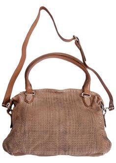 Gråbrun taske 23908 Hand Bag Python Embossed
