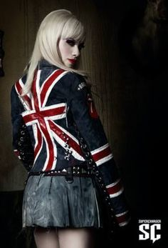 England flag Jacket jean...the jacket that inspired me to create my own! ....almost done with it!