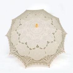 Beige Battenburg Lace Umbrella Parasol, Romantic Wedding Umbrella Idoo. $24.99. Save 30%!