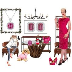 Hypnotizing Pink Tourmaline Jewelry by angarainc on Polyvore featuring Badgley Mischka, Coach and Lane Crawford