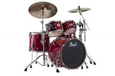 New & Factory Sealed Pearl Session Studio Classic SSC924XUP/C110 Sequoia Red Shell Pack - Includes 4 Drums Total:  22x16 Bass Drum, 10x7 Tom and 13x9 Toms w/Optimount, 16x14 Floor Tom with Legs - FREE SET OF FOUR HUMES & BERG GALAXY DRUM BAGS - FREE Ship Continental USA - Also Ships to Alaska & Hawaii! http://stores.ebay.com/music-for-all-03   http://www.musicforall.biz/
