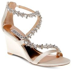 Badgley Mischka Bennet Embellished Wedge Sandals
