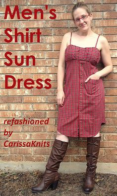 One of the best jobs of re-fashioning a mans shirt: Carissa Knits
