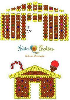 TOp festas Gravatá Balloon Wall Decorations, Balloon Backdrop, Balloon Columns, Church Christmas Decorations, Diy Party Decorations, Christmas Balloons, Halloween Balloons, Balloon Template, Deco Ballon