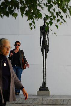 MoMA Giacometti Sculpture Courtyard by morv440, via Flickr