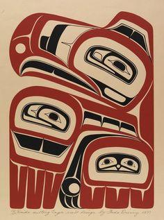 Haida Sitting Eagle Crest Design, Freda Diesing