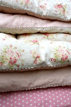 Grab a soft and cozy pink blanket to sit on  :)