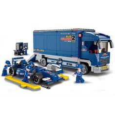 F1 Truck 641 Pcs Powerful Sluban ABS Plastic Building Blocks Learning Education - Blocks