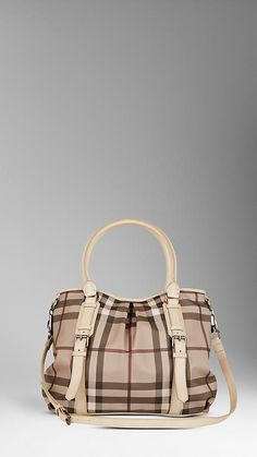 MEDIUM SMOKED CHECK TOTE
