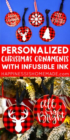 Make your own DIY Personalized Christmas Ornaments with Cricut Infusible Ink! It's so quick and easy, and the design possibilities are limitless! Ornament Crafts, Snowflake Ornaments, Holiday Ornaments, Diy Ornaments, Simple Snowflake, Holiday Images, Personalized Christmas Ornaments, How To Make Ornaments, Christmas Baby