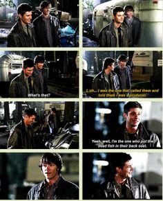 [GIFSET] 1x17 Hell House #PunkingGhostfacers----Sam and Dean being brothers. :)