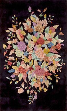"#290 Chinese Art Deco carpet  3'0"" x 4'9""  circa 1920"