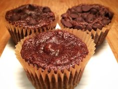 Chocolate, bananas, and coconut flour strike a perfect balance in this moist and decadent muffin.