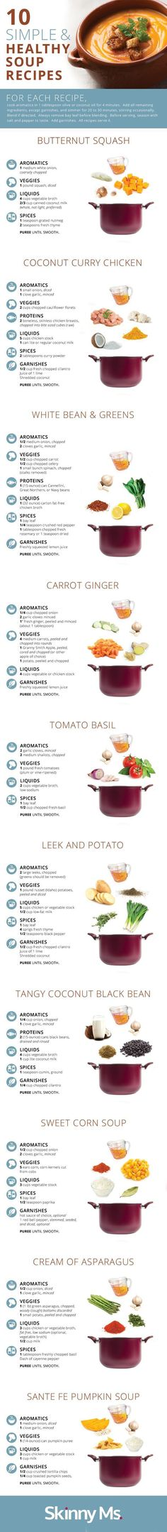 10 Simple and Healthy Soup Recipes. Souper easy! #souprecipes #easyhealthysoups