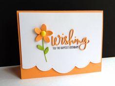 Birthday card layout