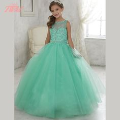 http://babyclothes.fashiongarments.biz/ Cute Mint Green Crystals Flower Girl Dresses Tulle Lace Up Formal Vestido De First Comunion Ball Gowns, http://babyclothes.fashiongarments.biz/products/cute-mint-green-crystals-flower-girl-dresses-tulle-lace-up-formal-vestido-de-first-comunion-ball-gowns/, , Size Chart & Color Chart Measurement Intruction A .The dress could be finished in 10-15 days . During the special holiday like C