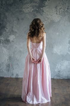 Luxurious silk evening dress Gordelia by LiBrightWeddingDress