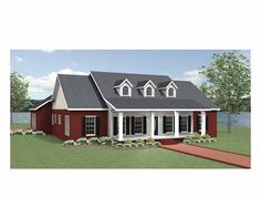 Eplans Country House Plan - Two Magnificent Covered Porches - 2048 Square Feet and 3 Bedrooms from Eplans - House Plan Code HWEPL69285