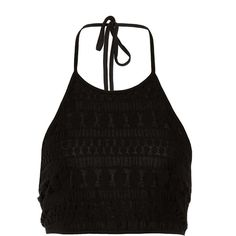 reversible lace halter top ($14) ❤ liked on Polyvore featuring tops, tank tops, shirts, black shirt, black halter top, halter neck top, shirts & tops and reversible shirts