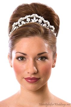 wedding hair do's | Wedding Hair Accessories with Tiara | Hairstyles for Weddings